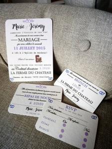 faire-part mariage cartons