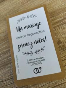carnet organisation mariage entre plume et perle