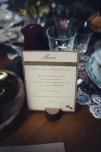 menu mariage doré